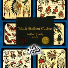 Black Stallion Tattoo Flash Vol 2