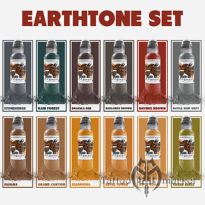 12 Color Earthtone Set