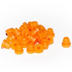 Durable Nipples-Hard Orange