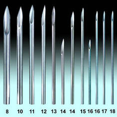 Иглы пирсинг 16 G - 1.2 мм