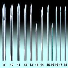 Иглы пирсинг 10 G - 2.5 мм