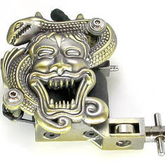 Snake and Face Tattoo Machine