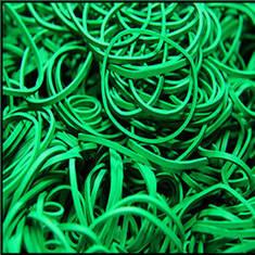 Green Rubber Bands - резинки бандажные 1000 шт.
