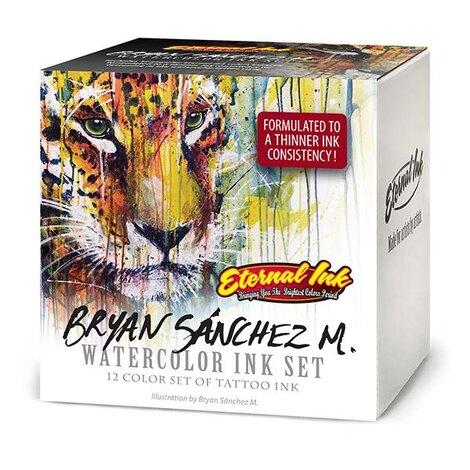 Bryan Sanchez M. Watercolor 12 Ink Set