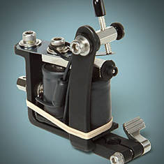 Flat Black Lightweight Shader Tattoo Machine