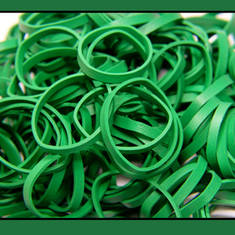 Thick Emerald Green Rubber Bands